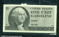 Miscellaneous:Other, Federal Gasoline Ration Coupon, printed in 1974, a single exa...
