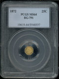 California Fractional Gold: , 1872 25C BG-791