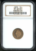 Proof Indian Cents: , 1878 1C, RD