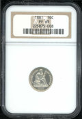 Proof Seated Dimes: , 1881 10C