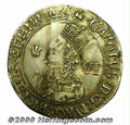 Great Britain, Charles I sixpence 1643 Oxford mint, Aberystwyth bust left with Shrewsbury plume in field/Declaration, th...