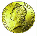 World: , George II gold 5 guineas 1741, Laureate bust left/Crowned a...