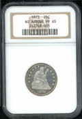 Proof Seated Quarters: , 1873 25C NO ARROWS