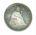 Proof Seated Quarters: , 1873 25C ARROWS