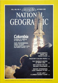 Autographs:Celebrities, Tom Wolfe. Twice Signed National Geographic with Columbia Content. ...