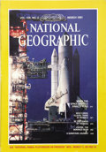 Autographs:Celebrities, Rick Husband. Signed National Geographic with Space ShuttleContent....