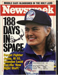 Explorers:Space Exploration, Shannon Lucid signed October 7, 1996, Issue of Newsweek...
