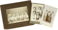 Western Expansion:Cowboy, Lot of Three Cabinet Card Photographs of Cowboys ca 1890s - ...(Total: 3 Items)