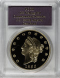 """S.S.C.A. Relic Gold Medals, SSCA Relic Gold Medal """"1855 Kellogg & Co. Fifty"""" GemProof PCGS...."""