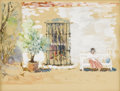 Fine Art - Painting, American:Contemporary   (1950 to present)  , FREMONT F. ELLIS (American 1897 - 1985). Untitled, circa1957. Watercolor on paper . 5 x 6 inches (12.7 x 15.2 cm). Pr...