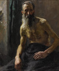 Fine Art - Painting, American:Modern  (1900 1949)  , ERNEST MARTIN HENNINGS (American 1886-1956). Man With Beard.Oil on canvas. 35 x 29 inches (88.9 x 73.7 cm). Ernest He...