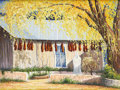 Fine Art - Painting, American:Contemporary   (1950 to present)  , KIM DOUGLAS WIGGINS (American b.1960). Chimayo in Autumn.Oil on canvas. 30 x 40 inches. Siged lower left, KDWiggins...