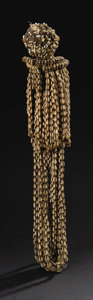 African: , Yoruba (Nigeria). Cowry Shell Headdress or Power Image. Cowryshells, ivory, and cloth. Height: 27 inches. This is a rare ...