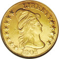 Early Eagles: , 1803 $10 Small Stars Reverse--Repaired, Whizzed--ANACS. XF45Details. Breen-6844, Taraszka-29, BD-4, R.6. A rare variety, s...