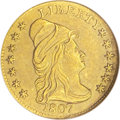 Early Quarter Eagles: , 1807 $2 1/2 --Ex-Jewelry, Cleaned--ANACS. AU50 Details. Breen-6124,BD-1, R.3. The only dies. There is little if any highpoi...