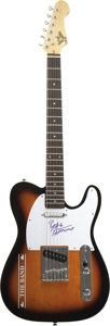 Music Memorabilia:Autographs and Signed Items, Robbie Robertson Signed Guitar. A sunburst finish S101 electricguitar with a The Band logo on the body, signed on the pick ...(Total: 1 Item)