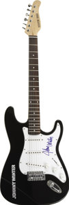 Music Memorabilia:Autographs and Signed Items, Johnny Winter Signed Guitar. A black Signature Series electricguitar with a Johnny Winter logo on the body, signed on the p...(Total: 1 Item)
