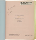 Movie/TV Memorabilia:Memorabilia, Buddy Ebsen's Personal Script of The Return of the BeverlyHillbillies Feature Film Script. In 1981, ten years a...(Total: 1 Item)