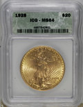 1928 $20 MS64 ICG. NGC Census: (12455/5438). PCGS Population (11028/9081). Mintage: 8,816,000. Numismedia Wsl. Price for...