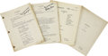 Movie/TV Memorabilia:Memorabilia, Buddy Ebsen's Personal Scripts for The Beverly HillbilliesEpisodes #2-5. Scripts for episodes #2, 3, 4, and 5 ... (Total: 1Item)