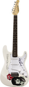 Music Memorabilia:Autographs and Signed Items, Rolling Stones' Keith Richards Signed Guitar. A white SignatureSeries electric guitar with Keith Richards and Rolling Stone...(Total: 1 Item)