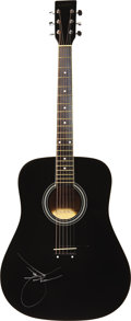 Music Memorabilia:Autographs and Signed Items, Dwight Yoakam Signed Guitar. A black Laurel AD100 acoustic guitarsigned on the body by Yoakam in silver felt tip. In Excell...(Total: 1 Item)