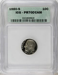 Proof Roosevelt Dimes: , 1980-S 10C PR70 Deep Cameo ICG. NGC Census: (9/0). PCGS Population(103/0). Numismedia Wsl. Price for NGC/PCGS coin in PR7...