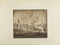 Prints:American, HERMANN STRUCK (German, 1876-1944). New York. Etching onpaper. 9-3/4 x 11-1/2 inches (24.8 x 29.2 cm). Ed. 68/150. Sign...