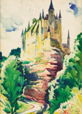 Fine Art - Painting, American:Modern  (1900 1949)  , THORNTON OAKLEY (American, 1881-1953). Segovia, Spain.Watercolor on cardboard. 30 x 22 inches (76.2 x 55.9 cm). Signed...