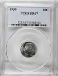 Proof Roosevelt Dimes: , 1950 10C PR67 PCGS. PCGS Population (183/4). NGC Census: (198/40).Mintage: 51,386. Numismedia Wsl. Price for NGC/PCGS coin...