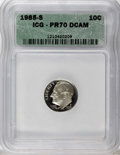 Proof Roosevelt Dimes: , 1985-S 10C PR70 Deep Cameo ICG. NGC Census: (26/0). PCGS Population(51/0). Numismedia Wsl. Price for NGC/PCGS coin in PR7...