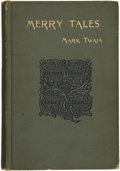 Books:First Editions, Mark Twain. Merry Tales....