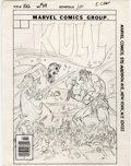 Original Comic Art:Miscellaneous, Ed Hannigan - Kull the Destroyer #29 Cover Preliminary Original Art(Marvel, 1978)....