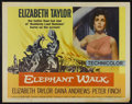 "Movie Posters:Adventure, Elephant Walk (Paramount, R-1960). Half Sheet (22"" X 28"").Adventure...."
