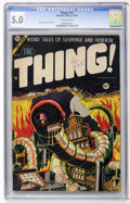 Golden Age (1938-1955):Horror, The Thing! #15 (Charlton, 1954) CGC VG/FN 5.0 Off-white pages....
