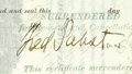 Autographs:Inventors, Fred Pabst Signed Stock Certificate. ...