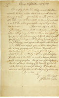 Autographs:Military Figures, Continental Army Request for Provisions....