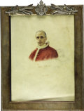 Autographs:Non-American, Pope Pius XII Portrait Signed ...