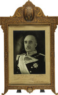 Autographs:Non-American, Francisco Franco Photograph Signed ...