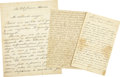 Autographs:Non-American, Domingo Faustino Sarmiento Lot of Three Autograph Letters Signed.... (Total: 3 Items)