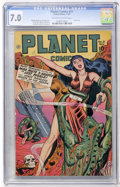 Golden Age (1938-1955):Science Fiction, Planet Comics #51 (Fiction House, 1947) CGC FN/VF 7.0 Off-white towhite pages....