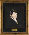 "Movie/TV Memorabilia:Original Art, Dean Martin CENSORED Club Portrait. A 16"" x 20"" pastel portrait of the King of Cool by Nicholas Volpe, from the walls of the... (Total: 1 Item)"