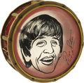 "Music Memorabilia:Memorabilia, Beatles Ringo Starr Novelty Snare Drum (1964). An ultra rare 14""novelty snare drum with Ringo Starr's likeness and signatur...(Total: 1 Item)"