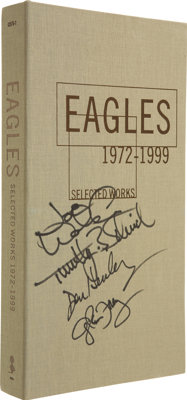 Eagles Autographed Selected Works: 1972-1999 CD Box Set. An autographed copy of the collector's edition box set