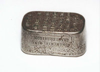 Monumental Mine Grant Co. Oregon. $24.23 Mixed Metal Ingot. The Monumental Mine Grant Co. of Oregon issued this mixed me...