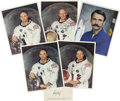 Explorers:Space Exploration, Five Astronaut Signed Photographs, Including the Apollo 11 Crew,and One Signed Cosmonaut Item, ... (Total: 6 Items)