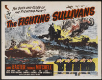 "The Sullivans (Realart, R-1951). Half Sheet (22"" X 28""). Re-released as The Fighting Sullivans. War"