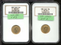 World: , Russia Nicholas II certified gold pair including: 5 roubles 190...