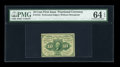 Fractional Currency:First Issue, Fr. 1241 10c First Issue PMG Choice Uncirculated 64 EPQ....