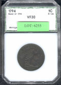Additional Certified Coins: , 1794 1C Cent XF 40 Details, Lightly Corroded (VF 30 PCI). S-46...